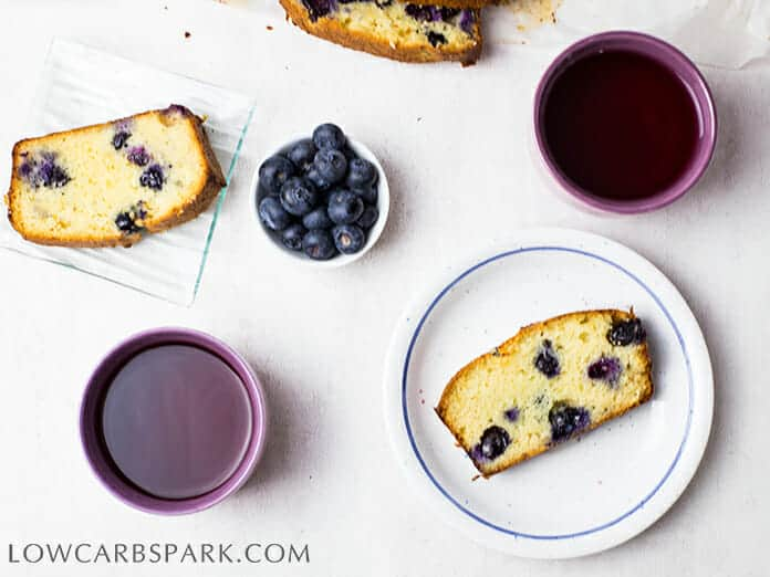 Keto blueberry bread recipe