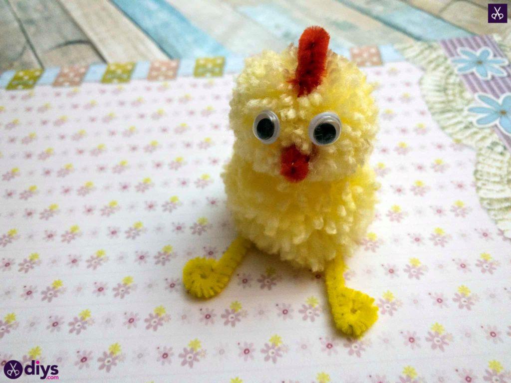 Kids craft how to make a pom pom chick