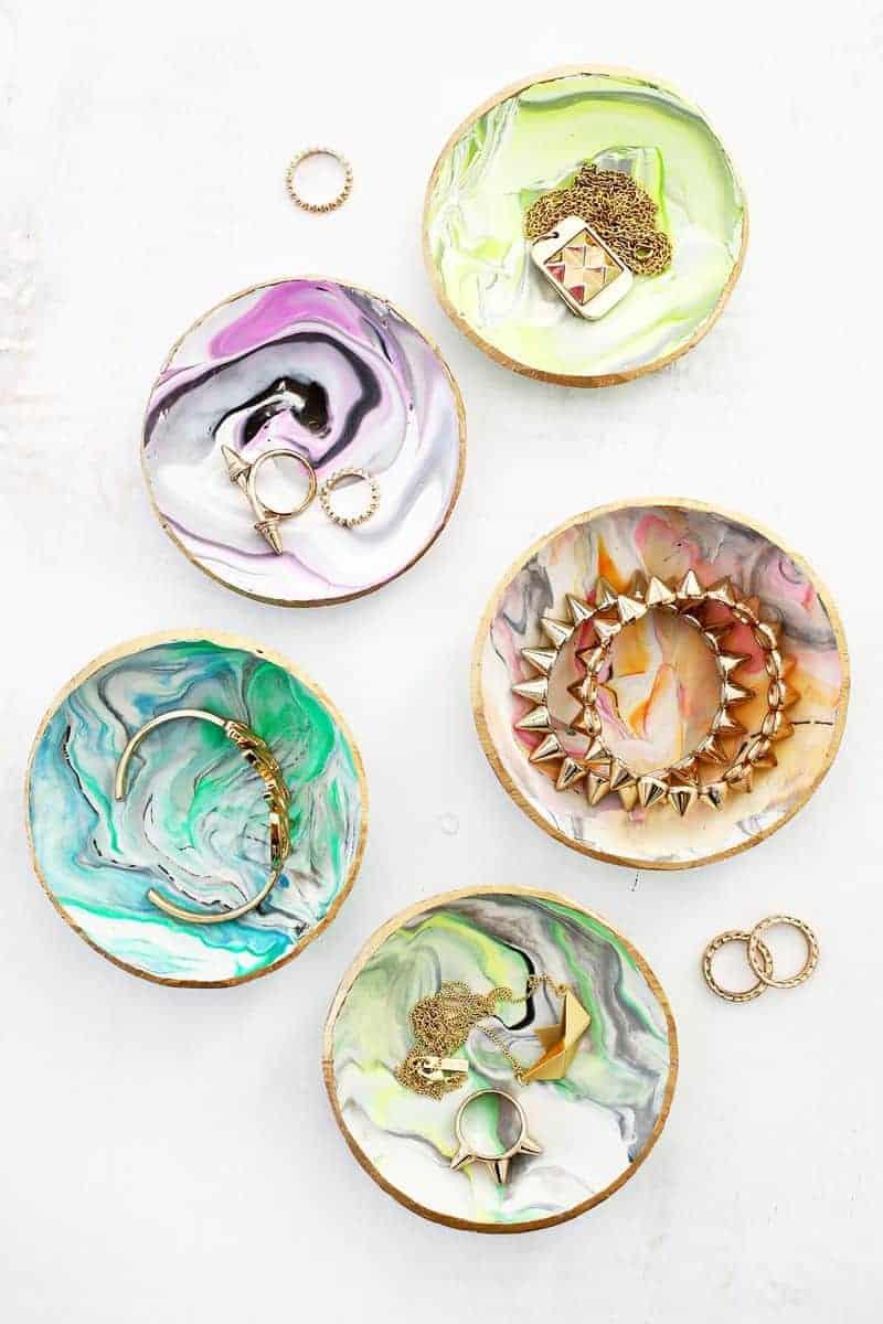 Marble clay ring dish diy