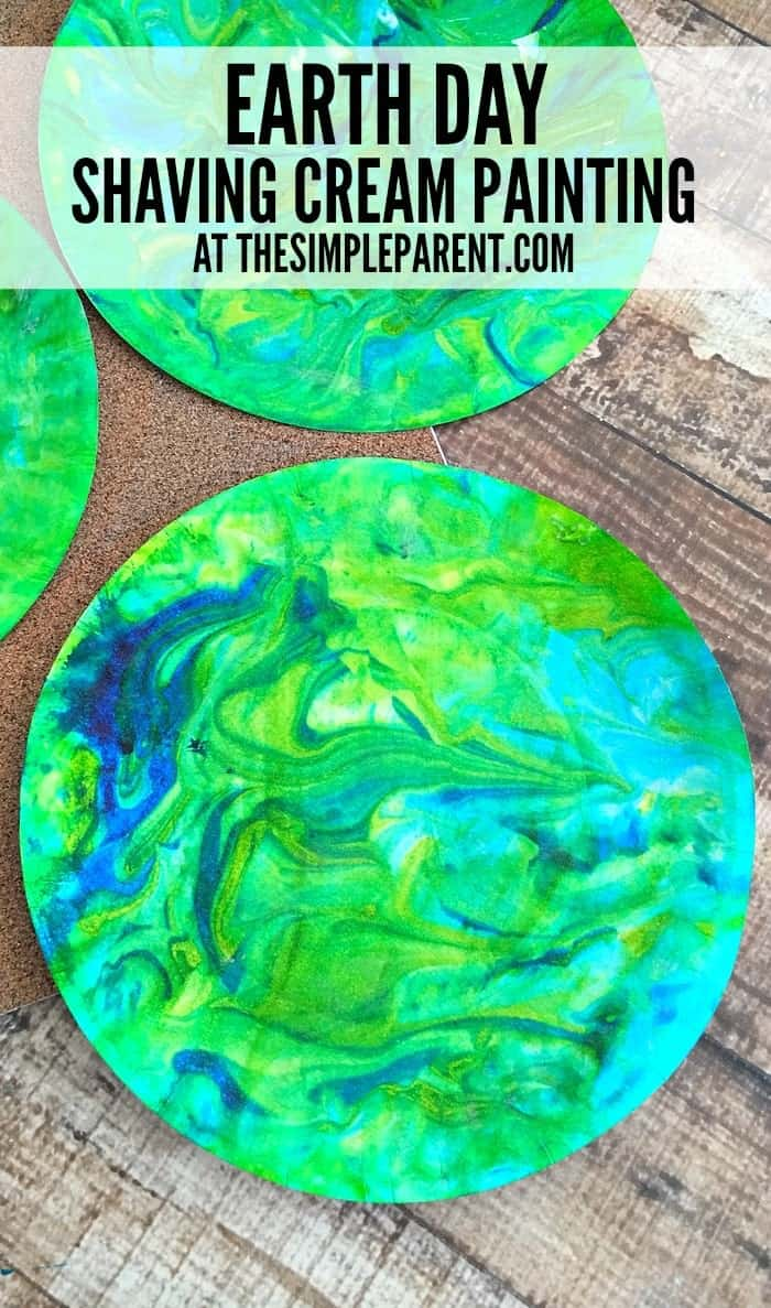 Shaving cream painting craft