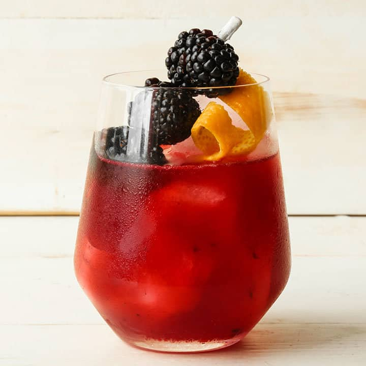 Tequila blackberry punch cocktail