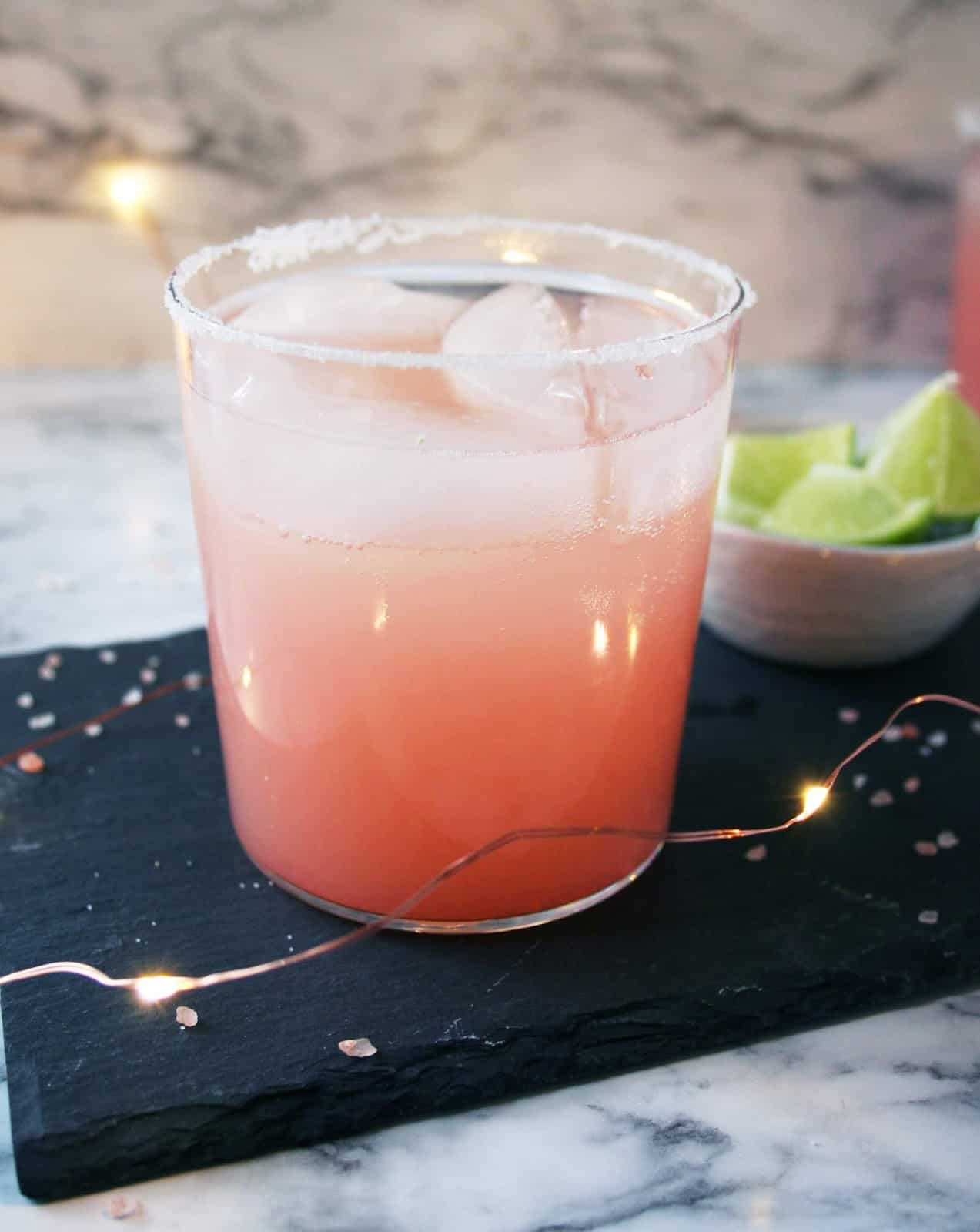 Tequila fizz raspberry cocktail