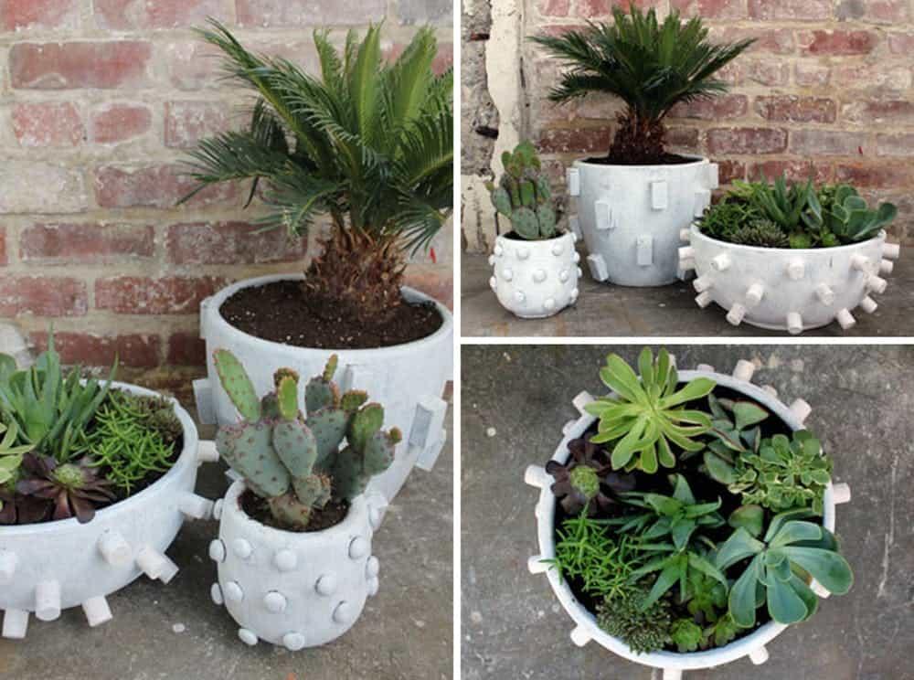 Textured planter pots diy
