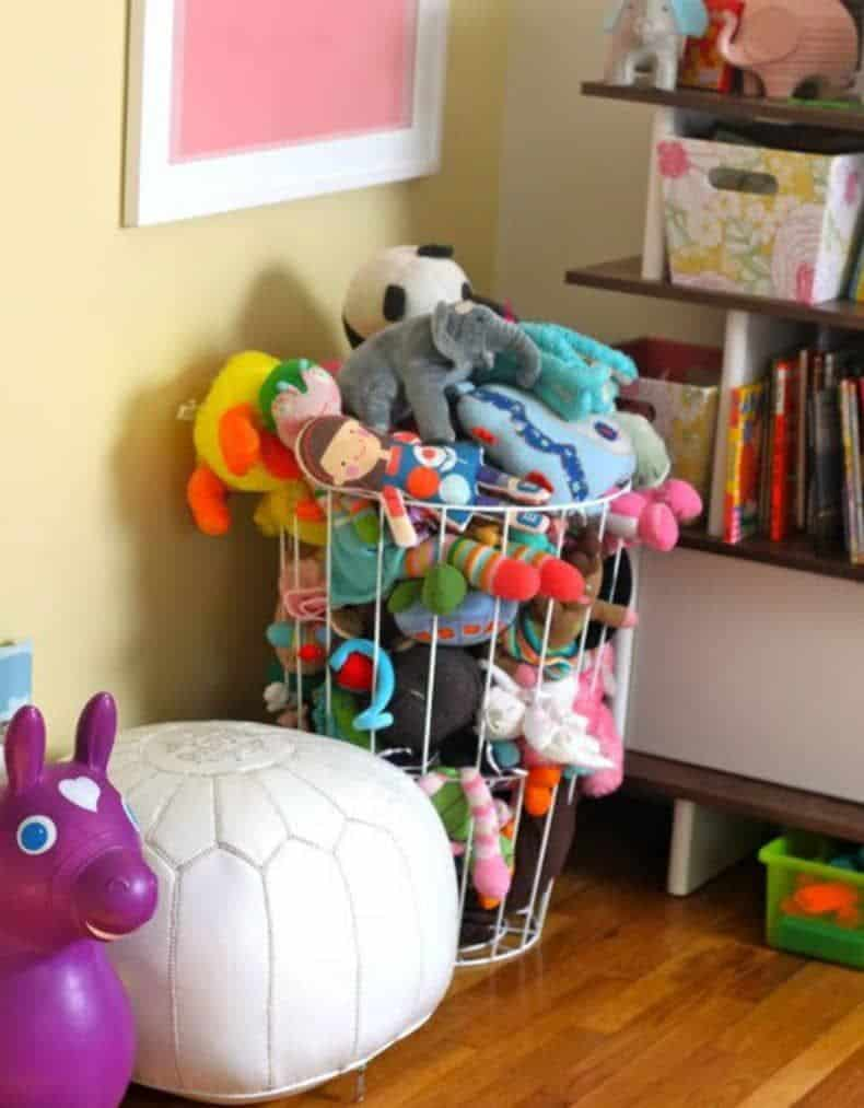 Wire basket animal storage diy