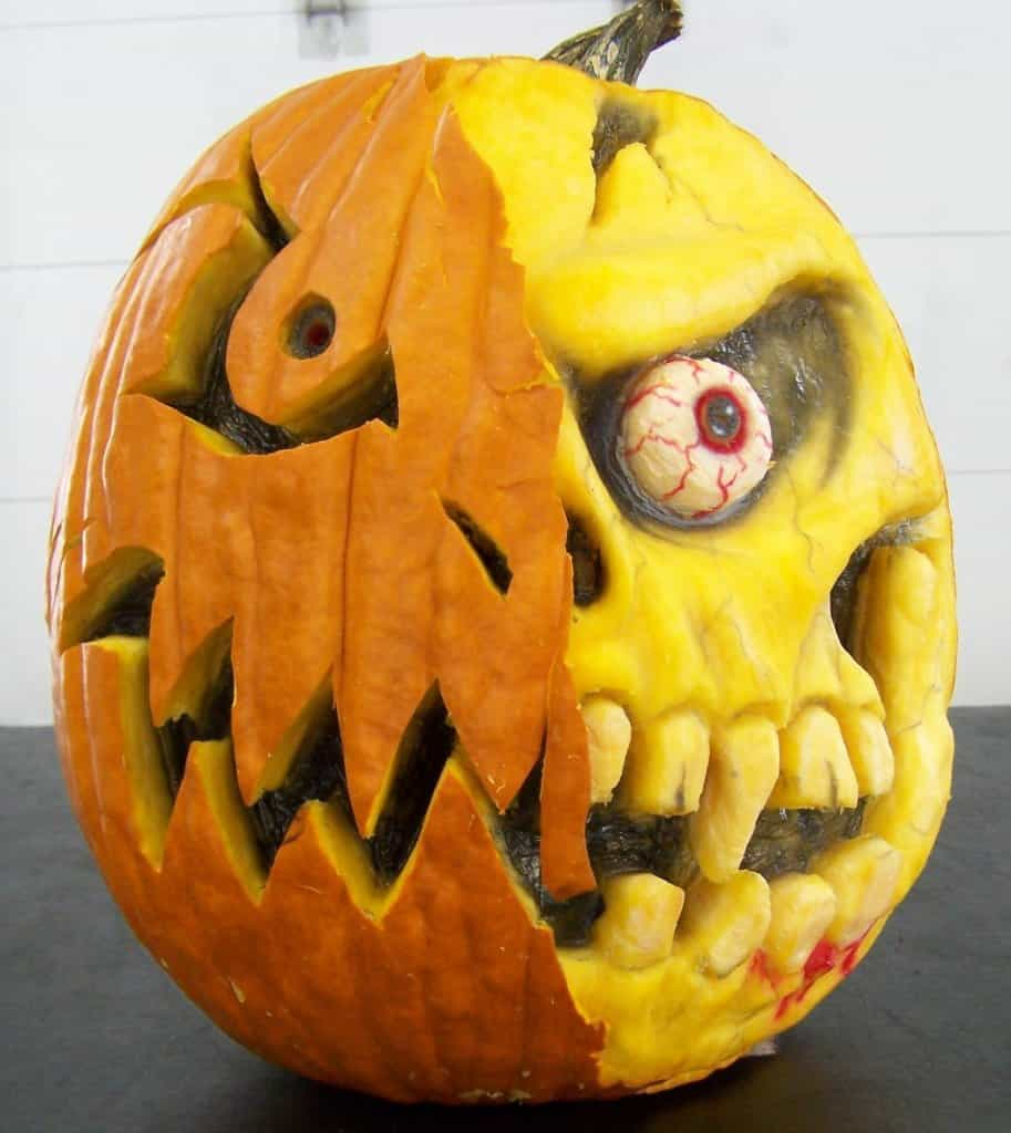 Advanced 3d zombie pumpkin