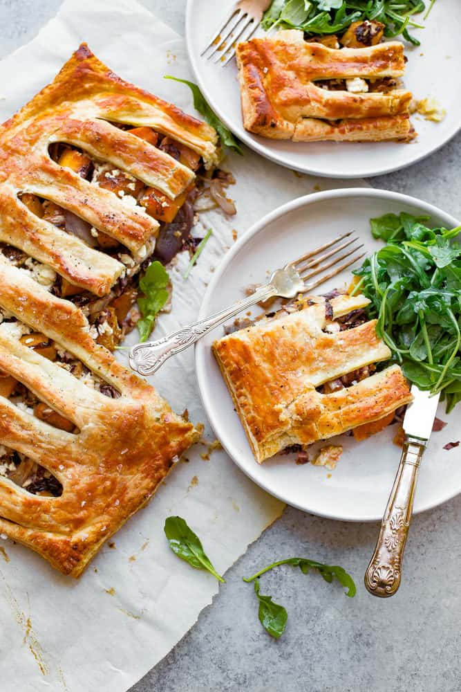 Butternut squash pie with feta