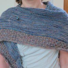 Crossroads textured shawl