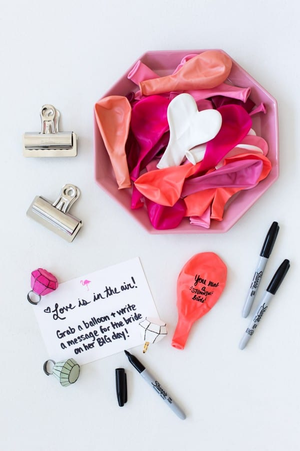 Diy balloon messages from guests