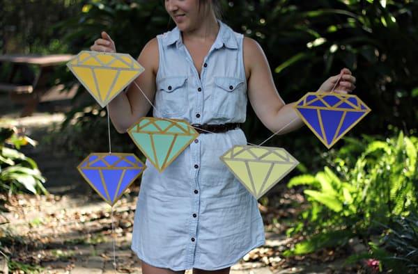 Diy diamond garland