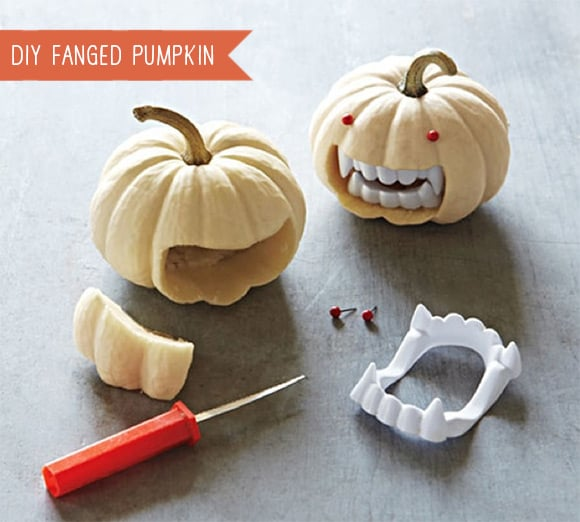 Diy fanged mini pumpkins