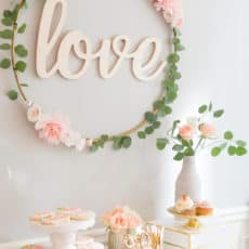 Diy hula hoop love sign