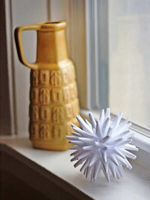 Diy modern white paper ornament
