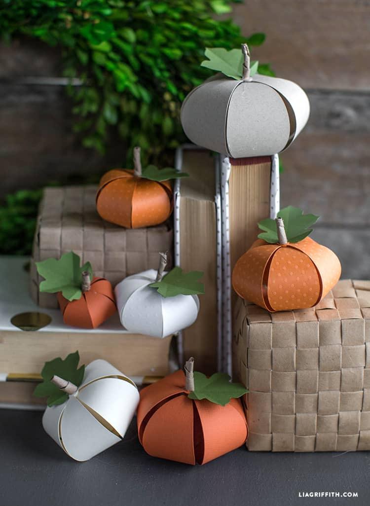Diy paper pumpkins