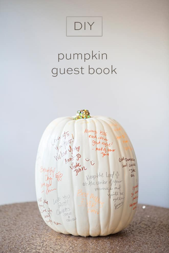 Diy pumpkin guestbook