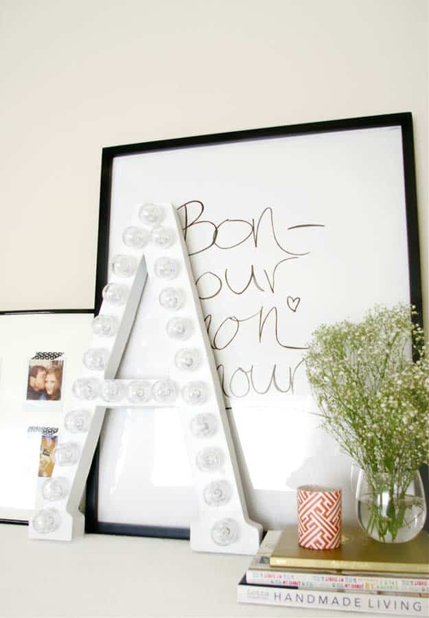 Diy white marquee letters from cardboard