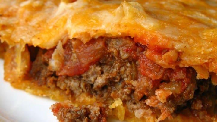 Delicious taco pie