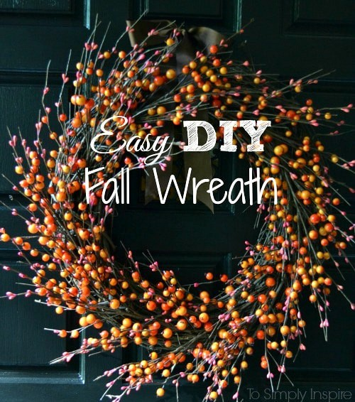 Easy diy fall berry wreath