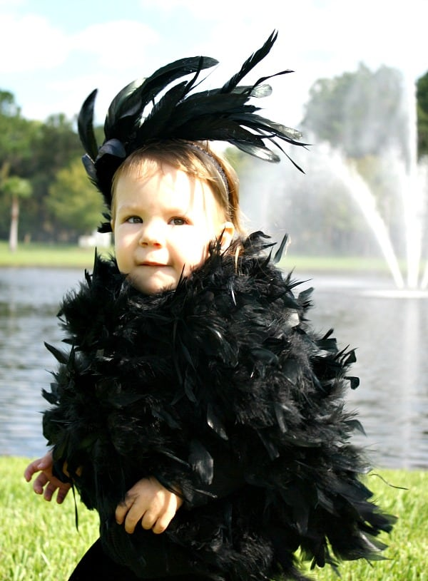 Easy baby bird costume