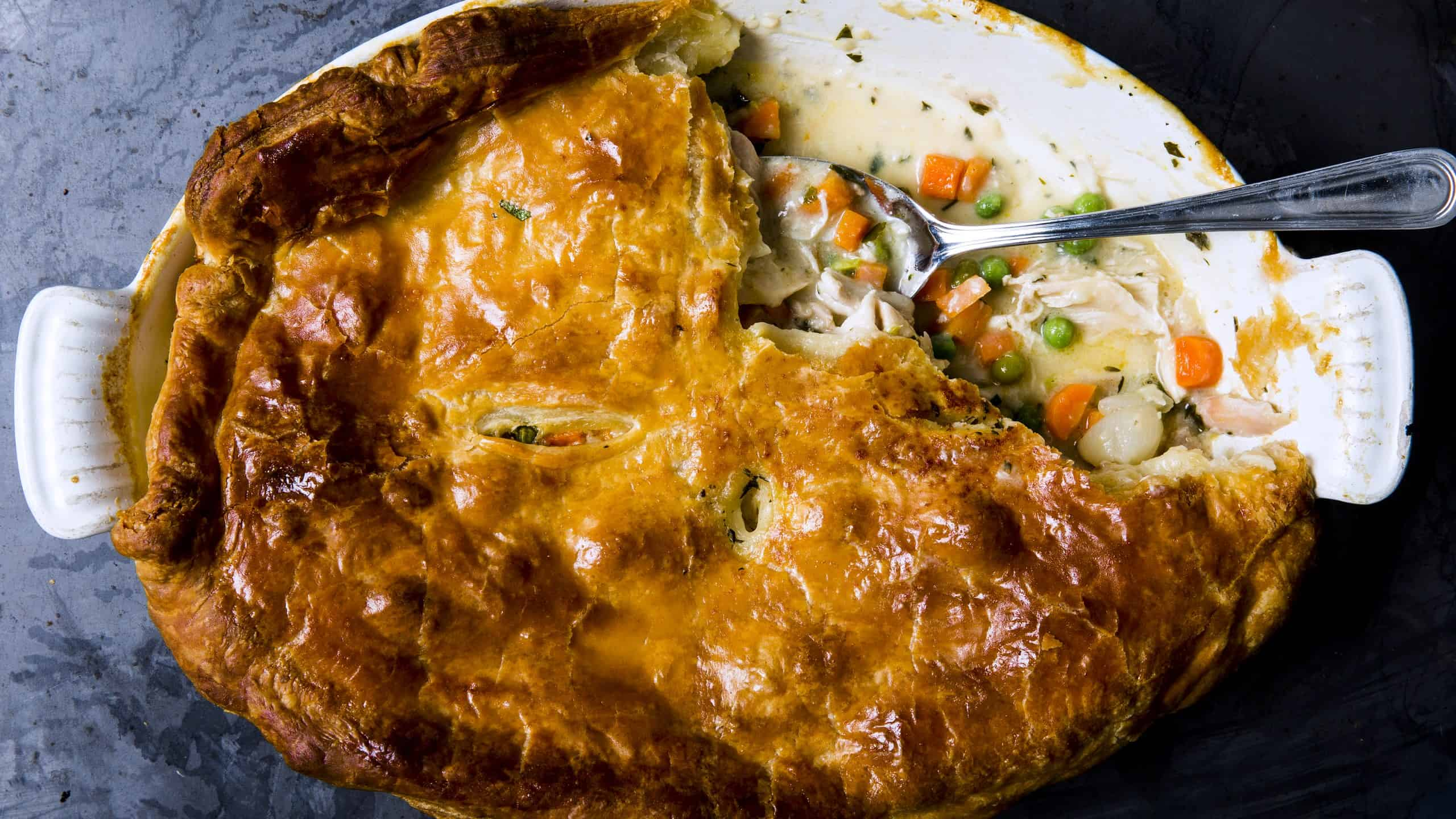 Fast chicken pot pie
