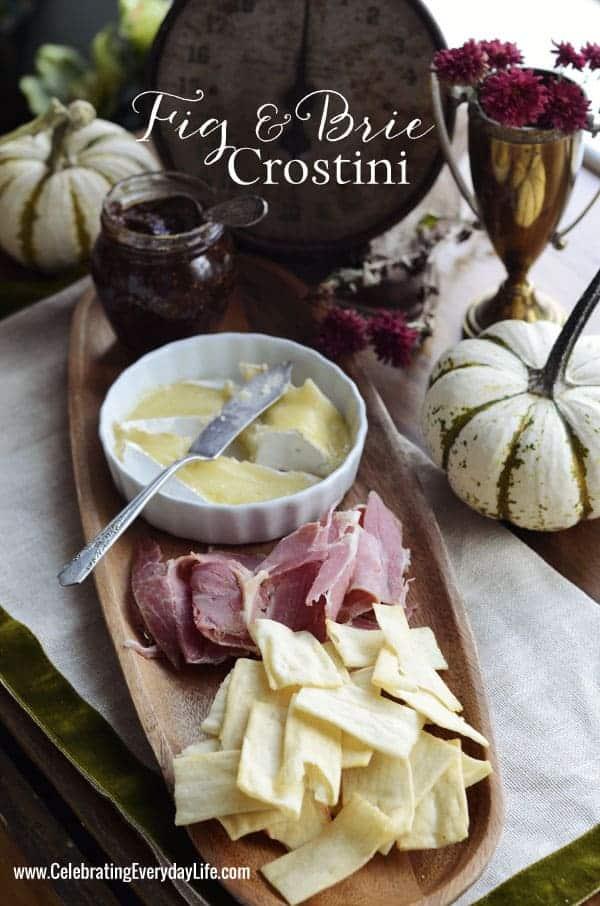 Fig and brie crostini