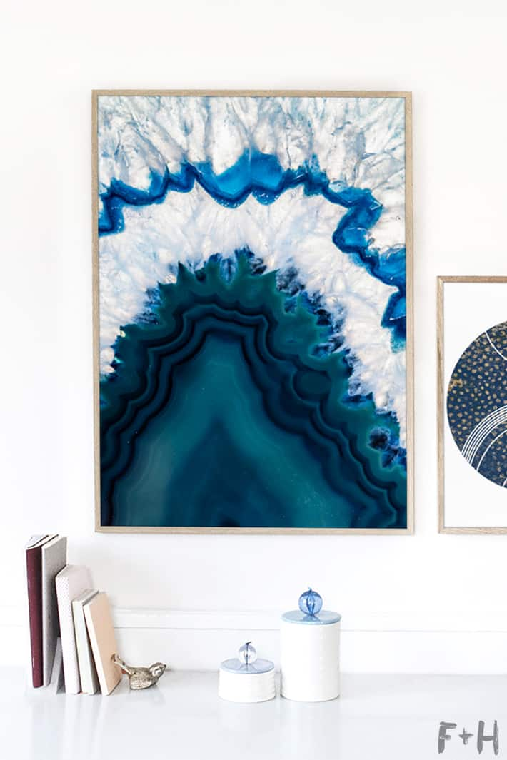 Free blue agate wall art fox hazel 4
