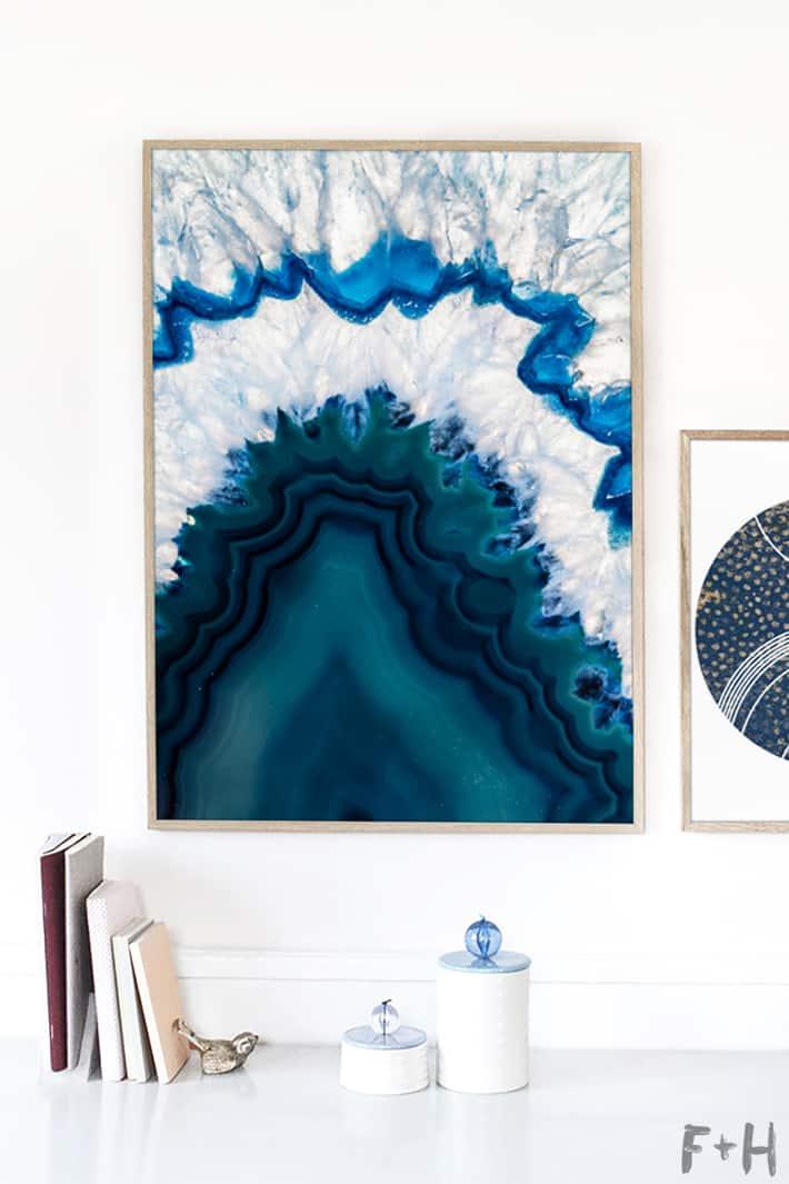Free blue agate wall art fox hazel 4