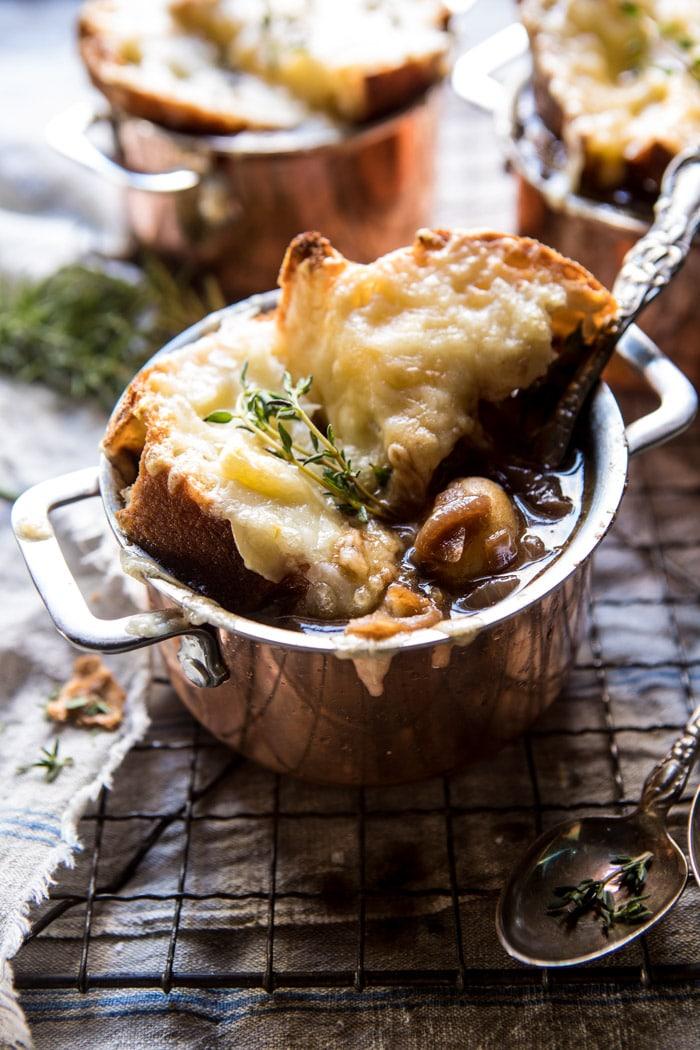 French onion potato soup