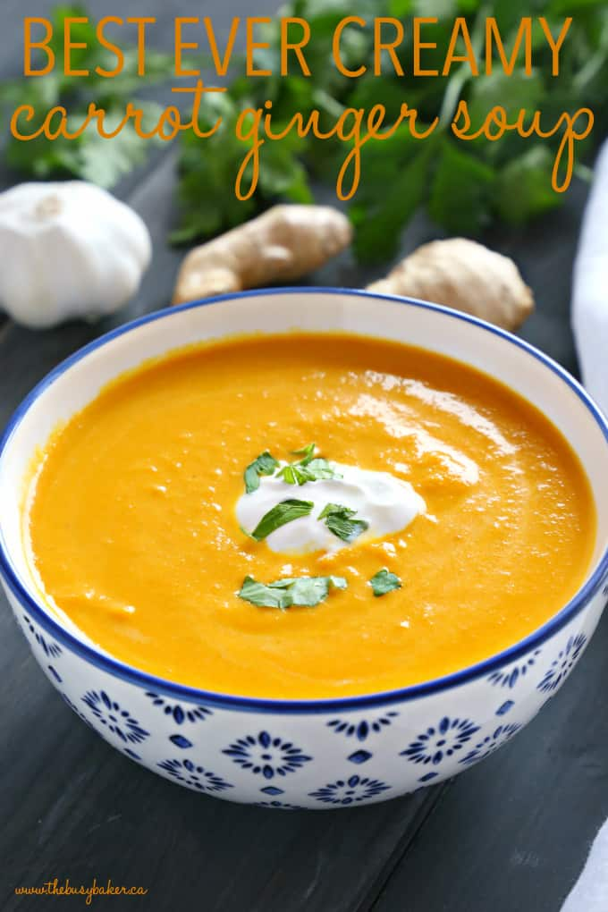 Gingery carrot soup