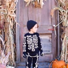 Glow in the dark halloween costume