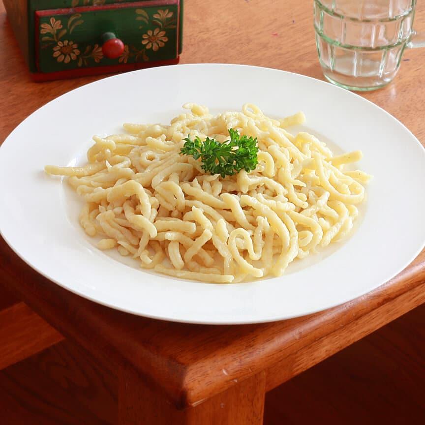 Homemade german spaetzle
