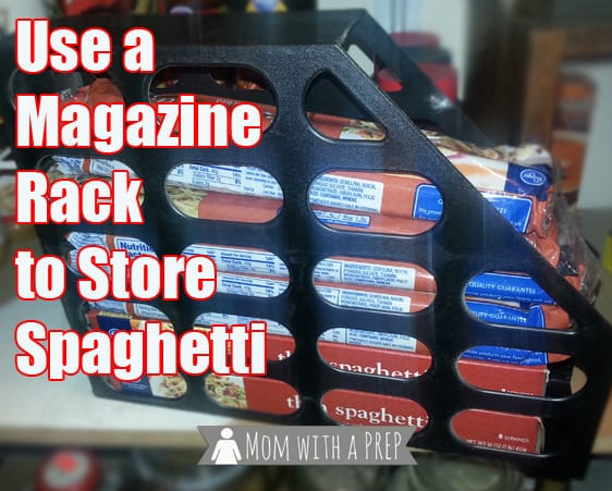 Magazine holder pasta storage