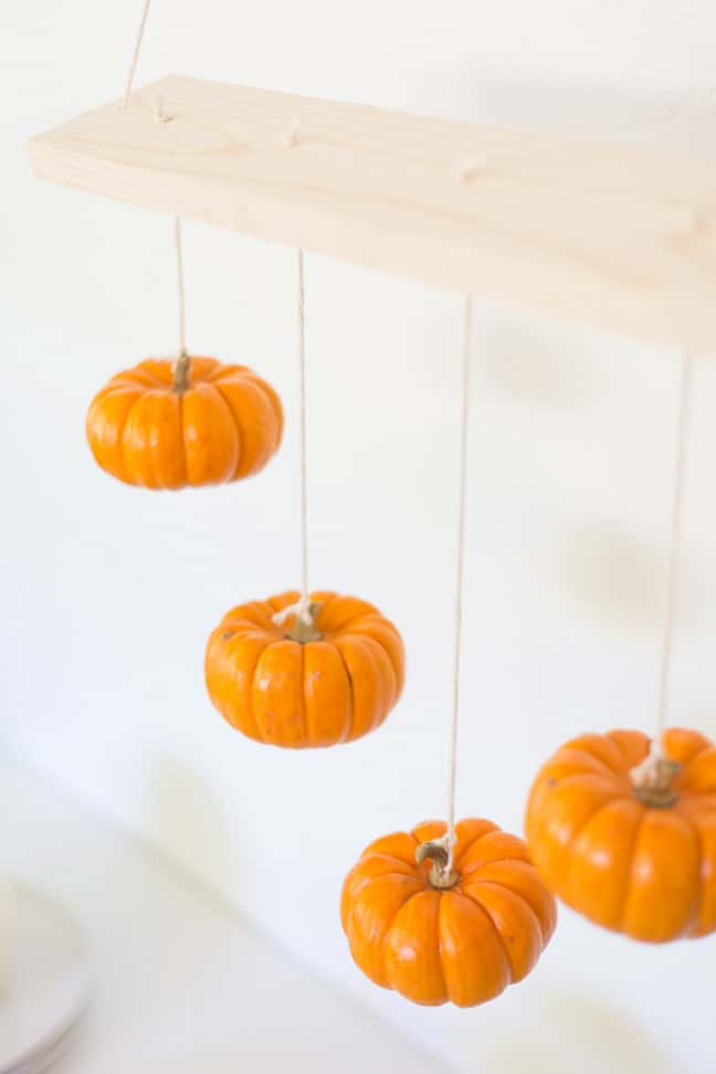 Mini pumpkin chandelier