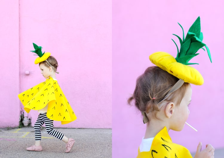 New sew pineapple costume