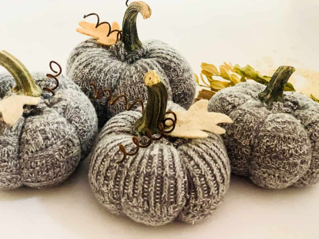 Old sock pumpkins