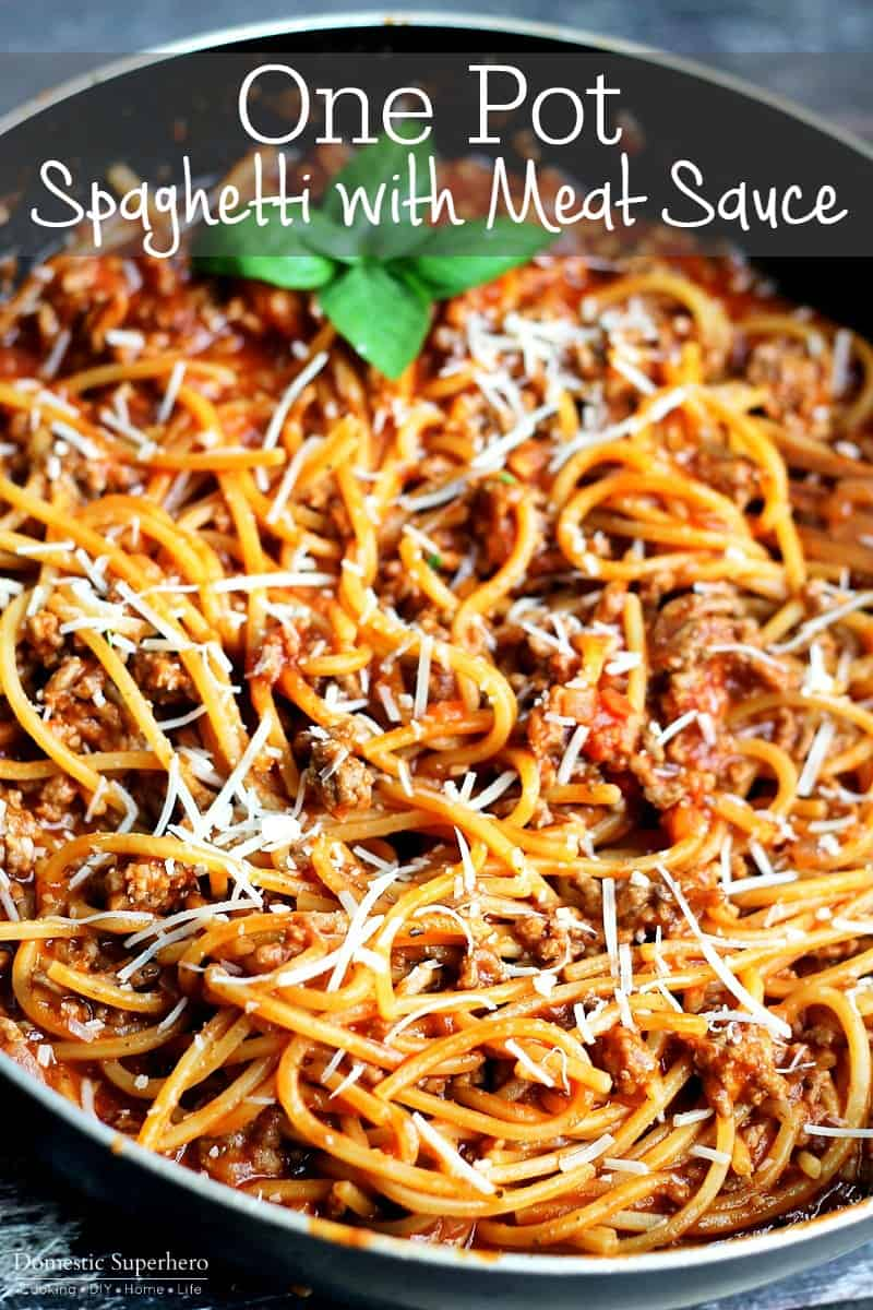 One pot spaghetti and meat sauce