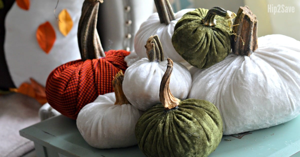 Plush velvet pumpkins