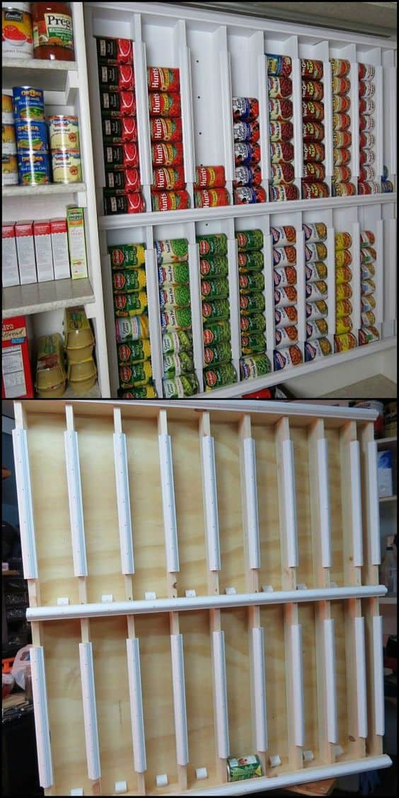 Rotating can system shelf
