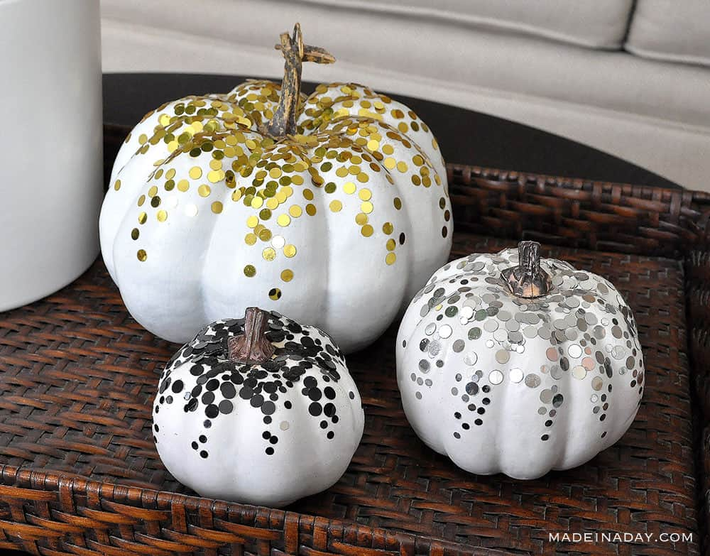 Shining confetti pumpkins