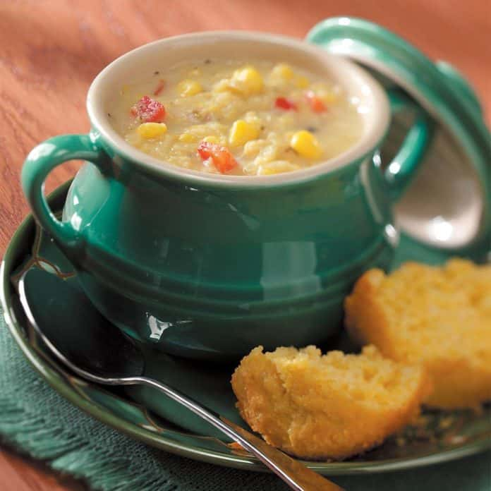 Simple fall corn chowder