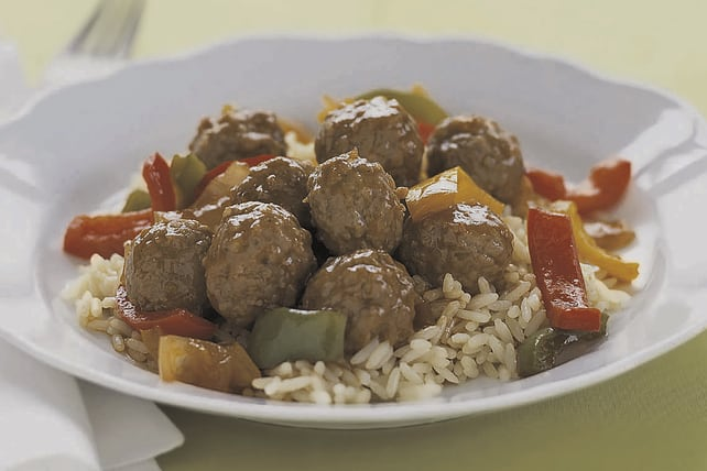 Simple sweet n' sour meatballs