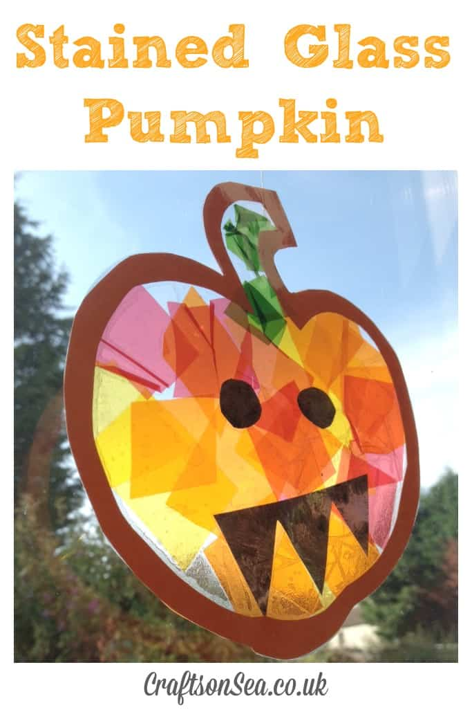Stained glass pumpkin sun catchers
