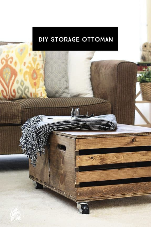 Storage crate coffee table alternative