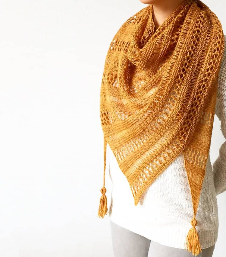 Stormy sky shawl