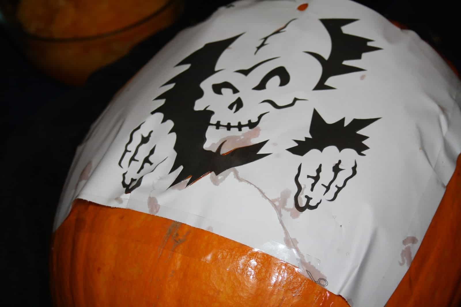 Tips for carving pumpkins using stencils