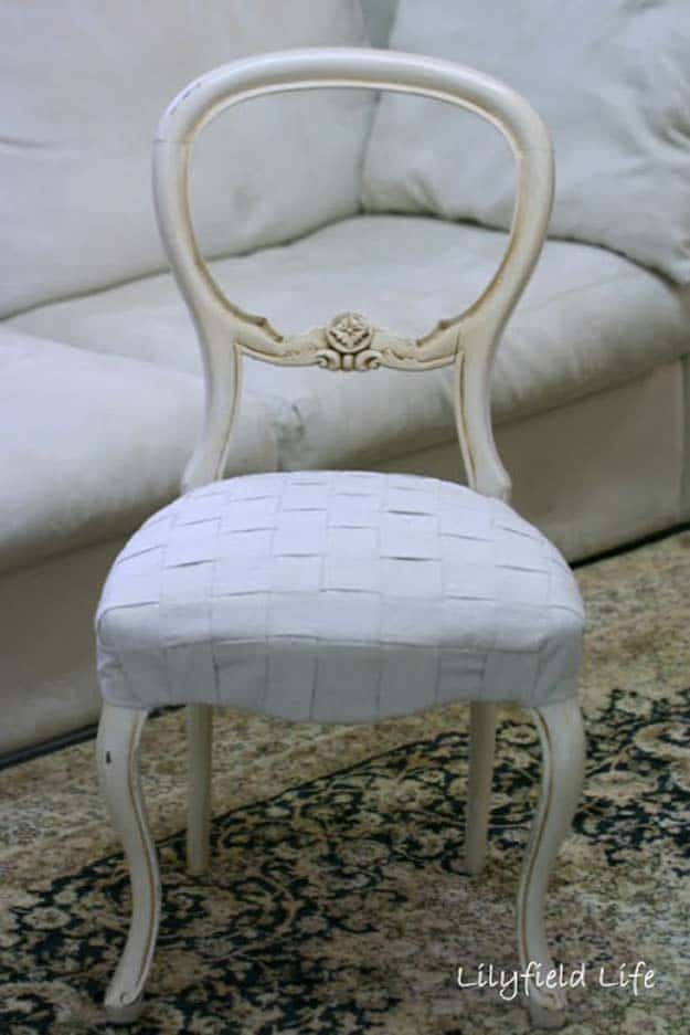 White woven upholstery project