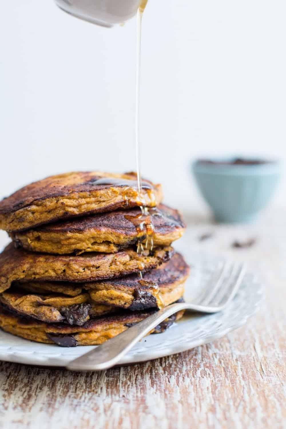 Chocolate chip pumpkin pancakes recipe