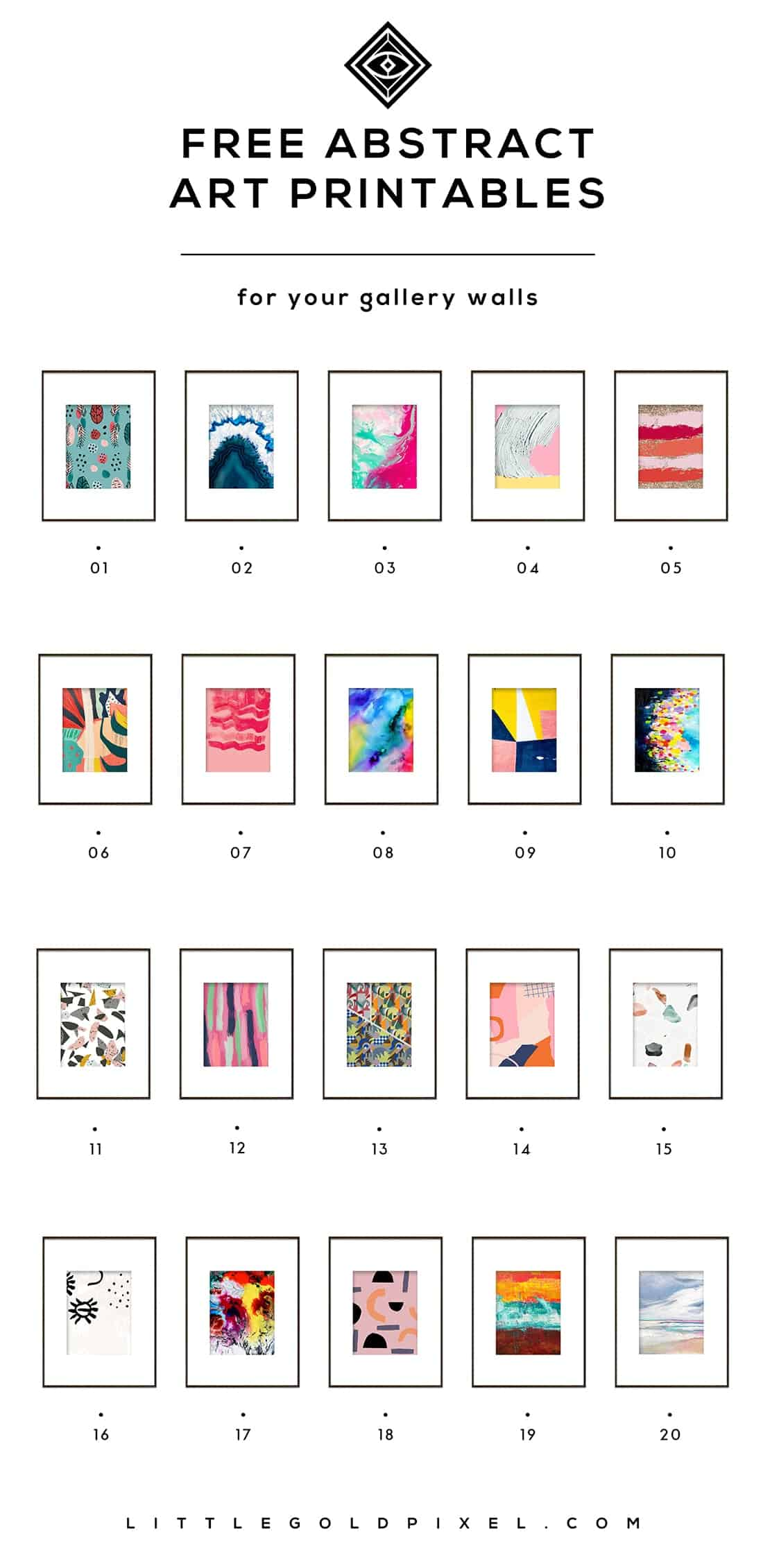 Free abstract diy printables