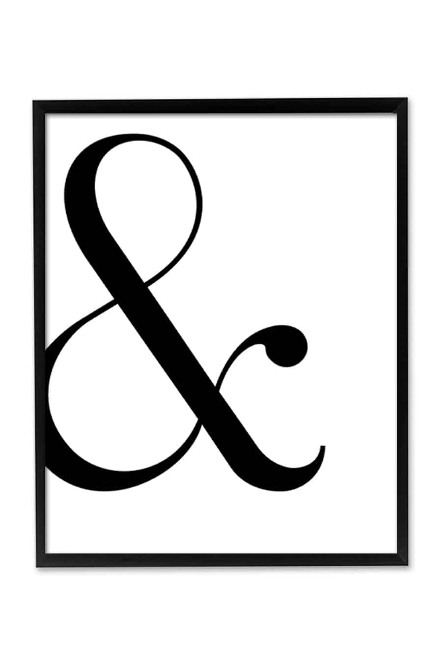 Free printable ampersand art