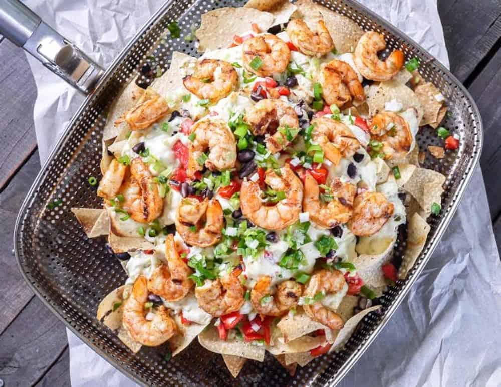 Grilled shrimp nachos recipe