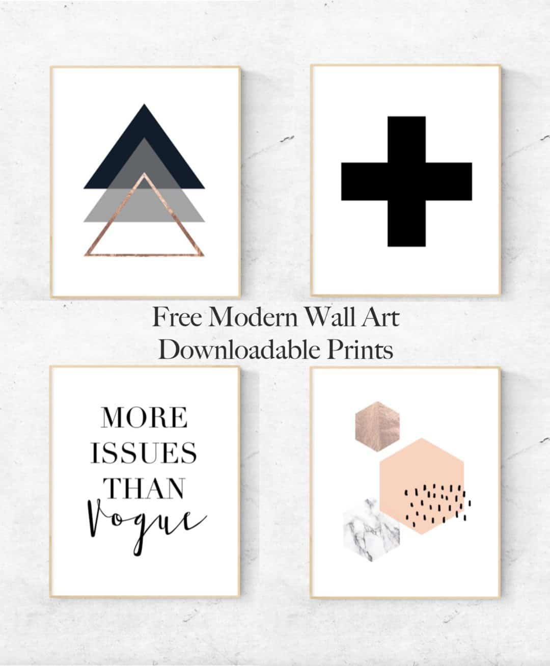 Modern downloadable printables